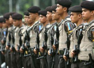 500 Personel gabungan TNI dan Polisi Amankan Rapat Pleno KPUD Bekasi