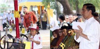 Horas! Anak Sinaga dan Siregar Dapat Hadiah Sepeda dari Jokowi
