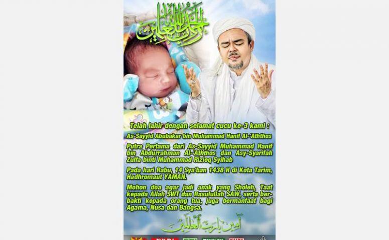 Habib Rizieq Sampaikan Kabar Bahagia