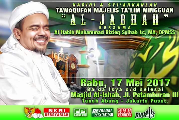 Habib Rizieq Ungkap Keberadaannya di Jakarta