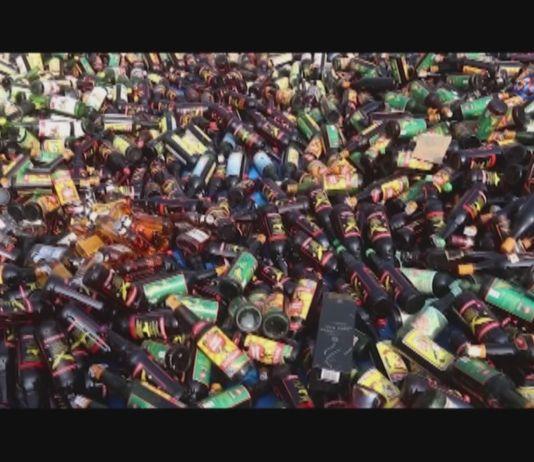 Polres Jakarta Selatan Musnahkan Ribuan Botol Miras