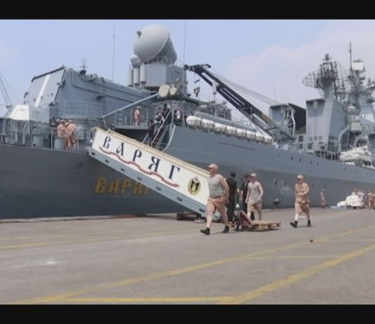 Melihat Kapal Penjelajah Rusia Vagyar