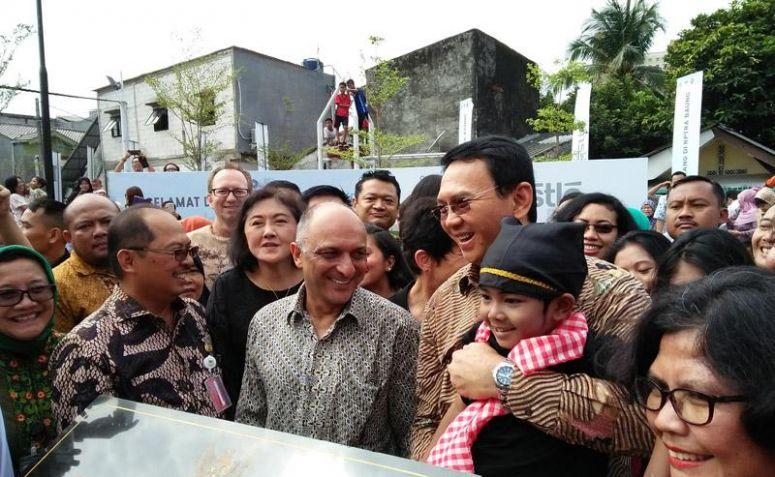 Ahok saat peresmian RPTRA Baung. (Netralnews/Toar Sandy Purukan)