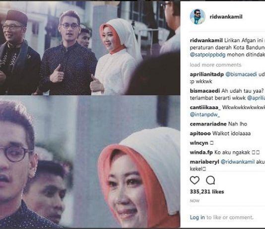 Istrinya Dilirik Afgan, Ridwan Kamil Lapor Satpol PP