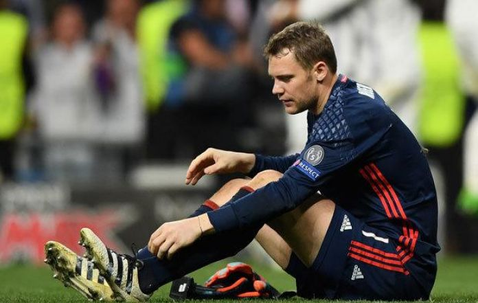 Bayern Munich's Manuel Neuer facing six months on the sidelines