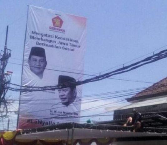 Baliho Prabowo-La Nyalla Marak di Jatim, Gerindra Belum Tentukan Sikap