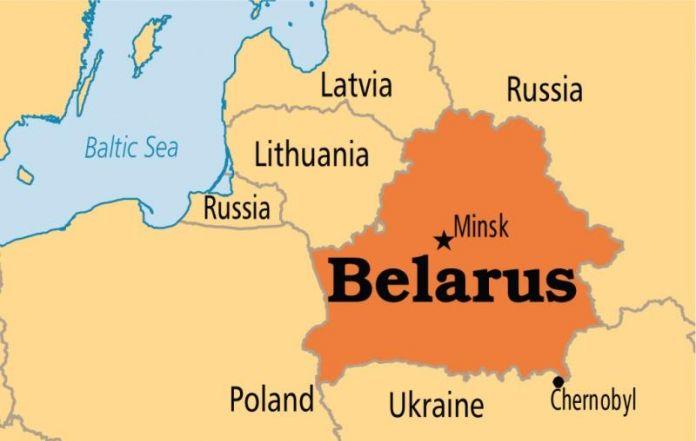 Hurricane Gervart Hits Belarus - Belarus map