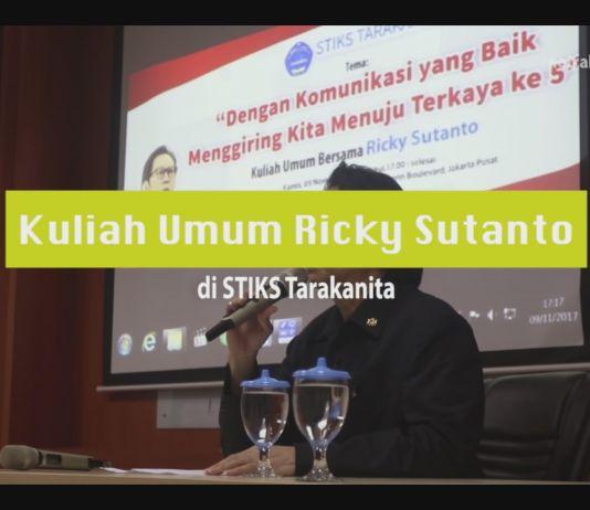 Kuliah Umum Ricky Sutanto di STIKS Tarakanita