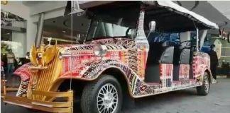 Mobil Bermotif Ulos Siap Antar Presiden Jokowi di Acara Ngunduh Mantu