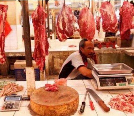Jelang Natal dan Tahun Baru Harga Daging di Kota Pangkalpinang Stabil