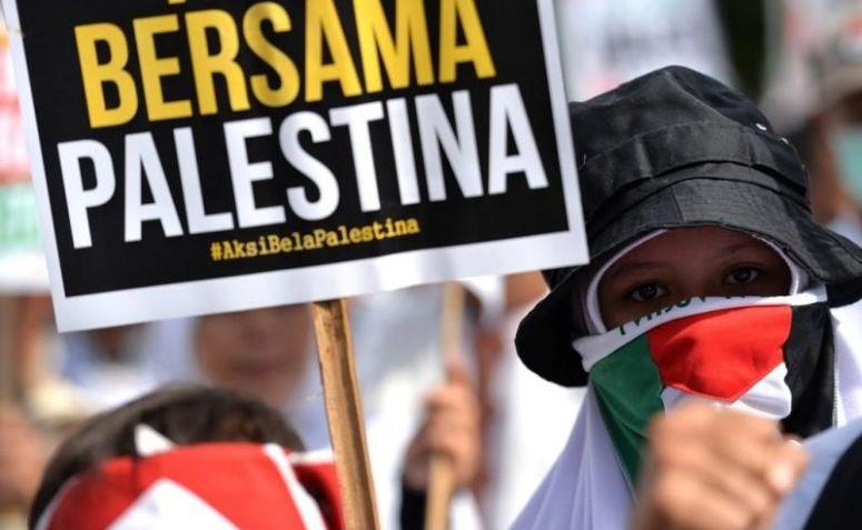 Image result for aksi bela palestina di monas