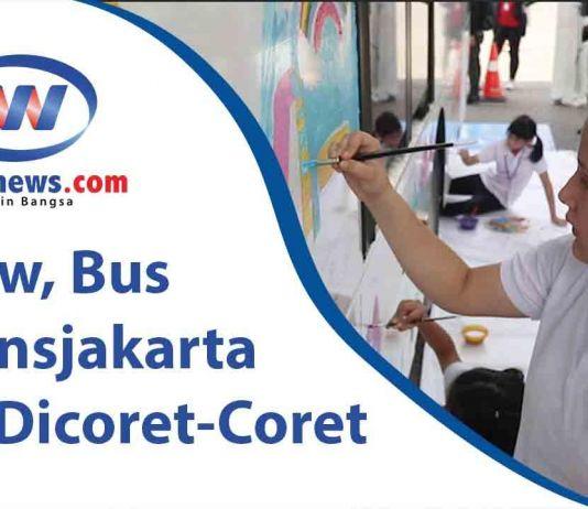 Wow, Bus Transjakarta Ini Dicoret-Coret