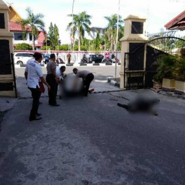 Serangan Teroris di Mapolda Riau, 2 Wartawan Luka Parah, 4 ...