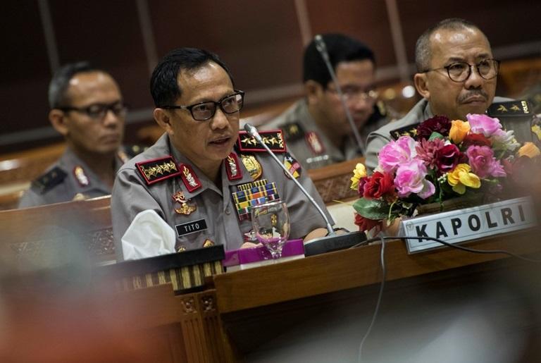 Kapolri Desak DPR Segera Susun UU Perlindungan Penegak Hukum