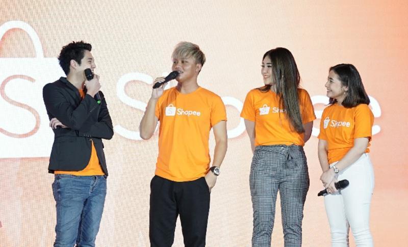 Merayakan 9.9 Super Shopping Day, Shopee, mengumumkan Via Vallen dan Rizky Febian sebagai brand ambassador.
