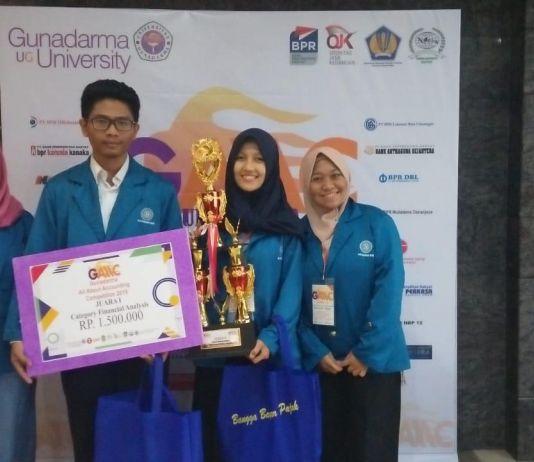 Empat Mahasiswa UBSI Raih Juara 1  Zahir Accounting Competition 2019