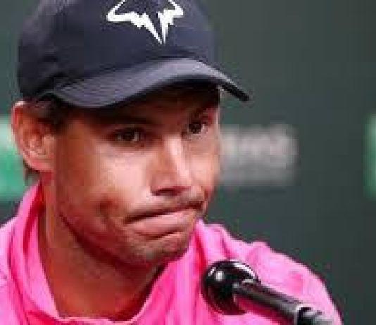 Cedera Lutut, Nadal Mengundurkan Diri di Semifinal Indian Wells