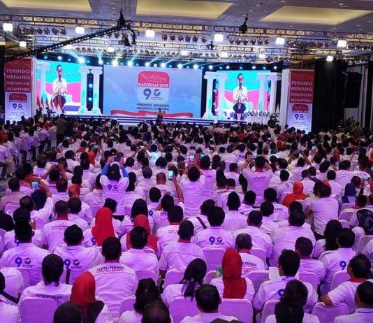 Nama Jokowi Menggema di Rakornas Perindo
