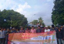 Barisan Orang Waras Deklarasi Dukung Jokowi-Ma`ruf di Depan DPP Demokrat