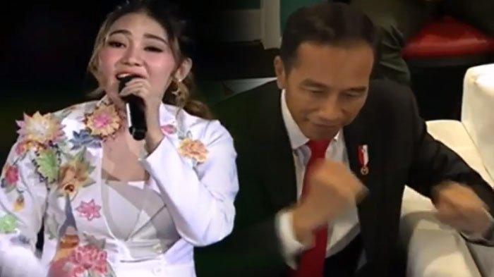 Pedangdut Vila Vallen mengaku dukung Jokowi-Ma'ruf.