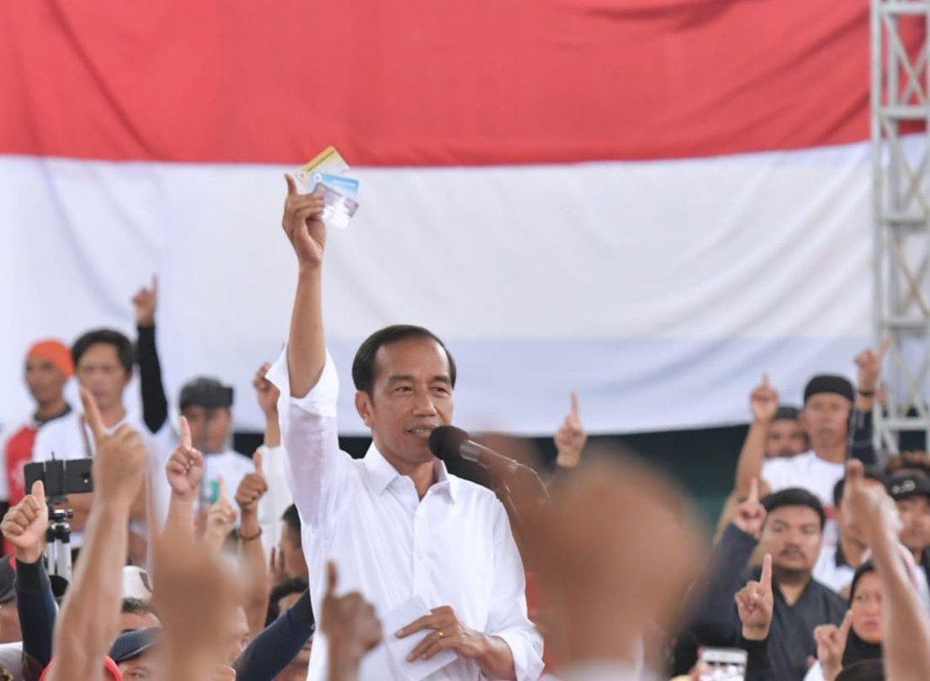 Calon presiden nomor urut 01, Joko Widodo.