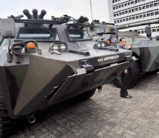 TNI AD Kerahkan Lima Panzer Amankan Pemungutan Suara di Manokwari