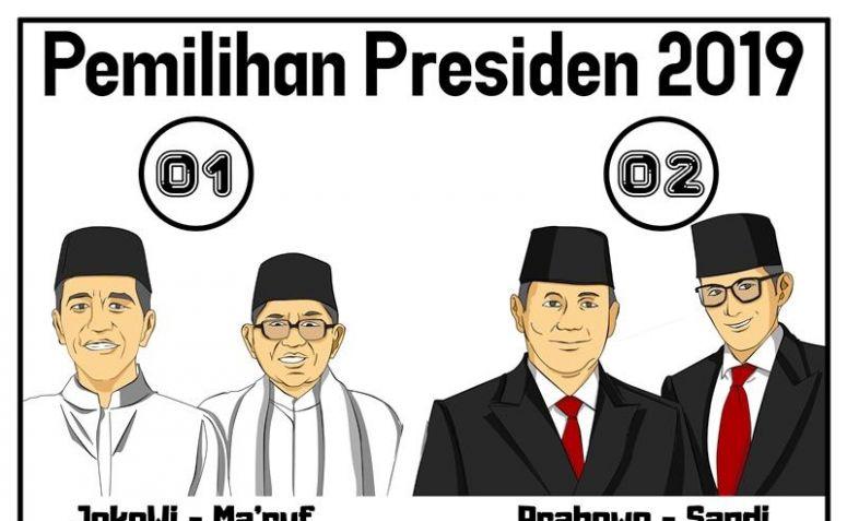 Suara Prabowo-Sandi Naik ke 5.683.206, Jokowi-Ma'ruf Melorot