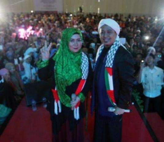 Mumpung Ramadan, Melly Goeslow Ajak Warga Makassar Donasi untuk Palestina