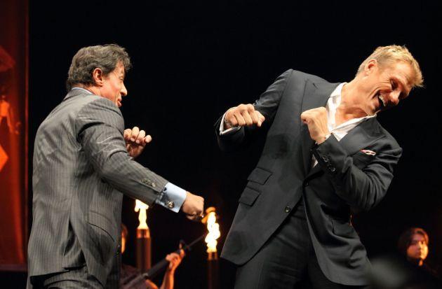 Sylvester Stallone dan Dolph Lundgren