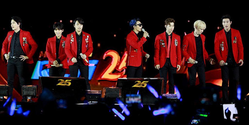 Konser boyband Super Junior di Indoensia.