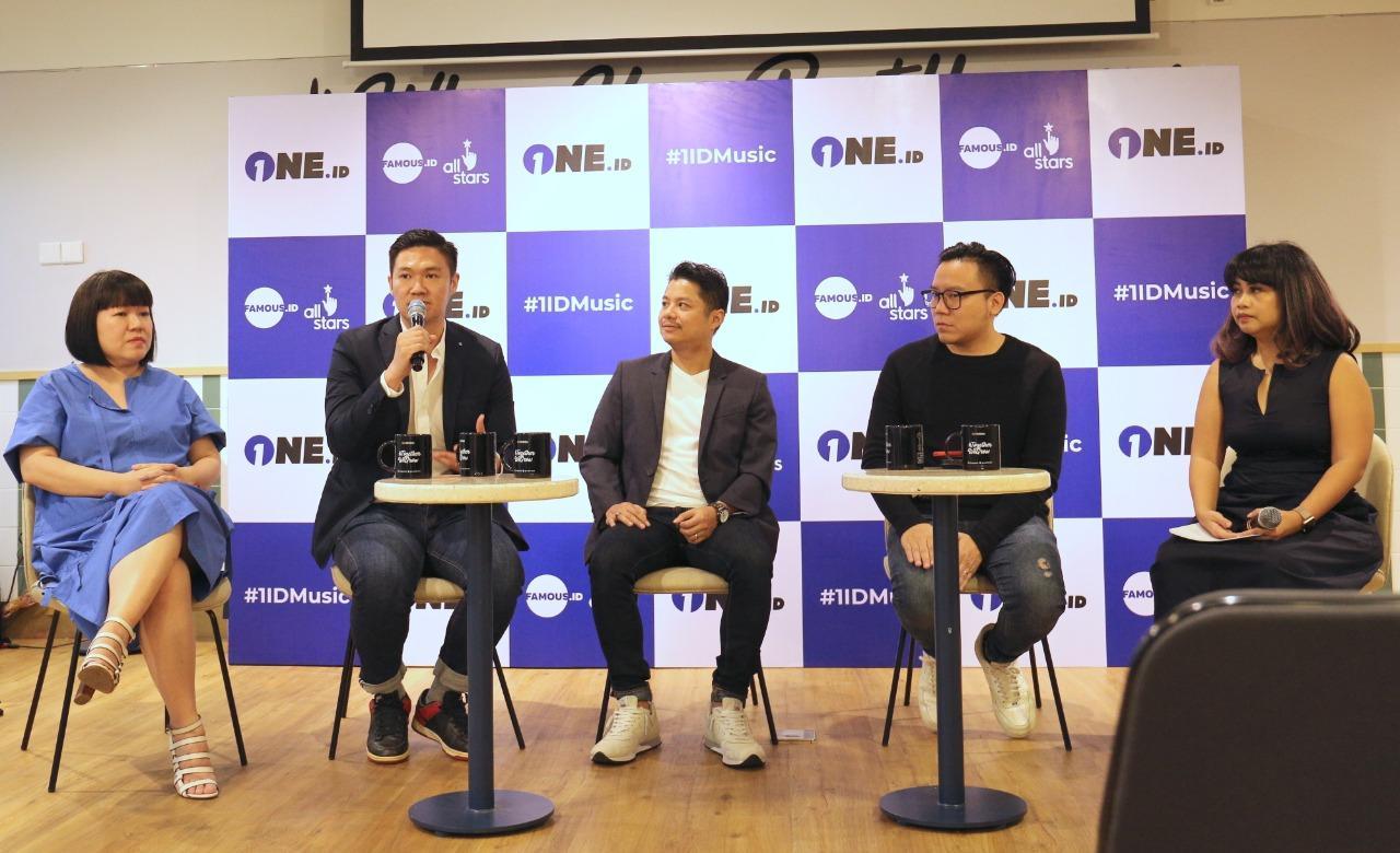 Konferensi pers 1ID Music, sebuah survival reality show mencari lima talenta musik terbaik Indonesia.