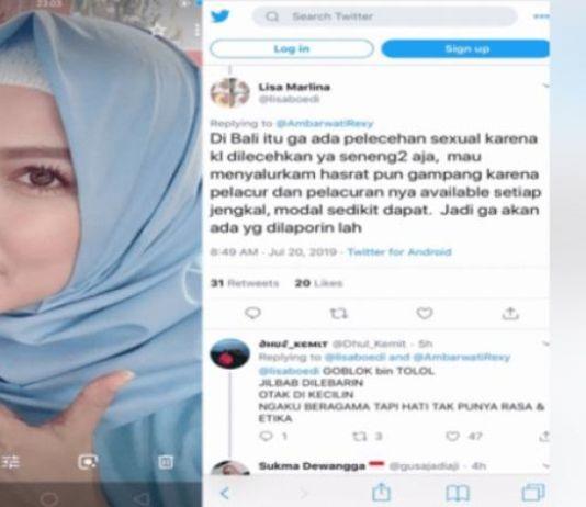 Sebut Pelacuran Availabel Setiap Jengkal di Bali via Medsos, Lisa Dilaporkan ke Polisi