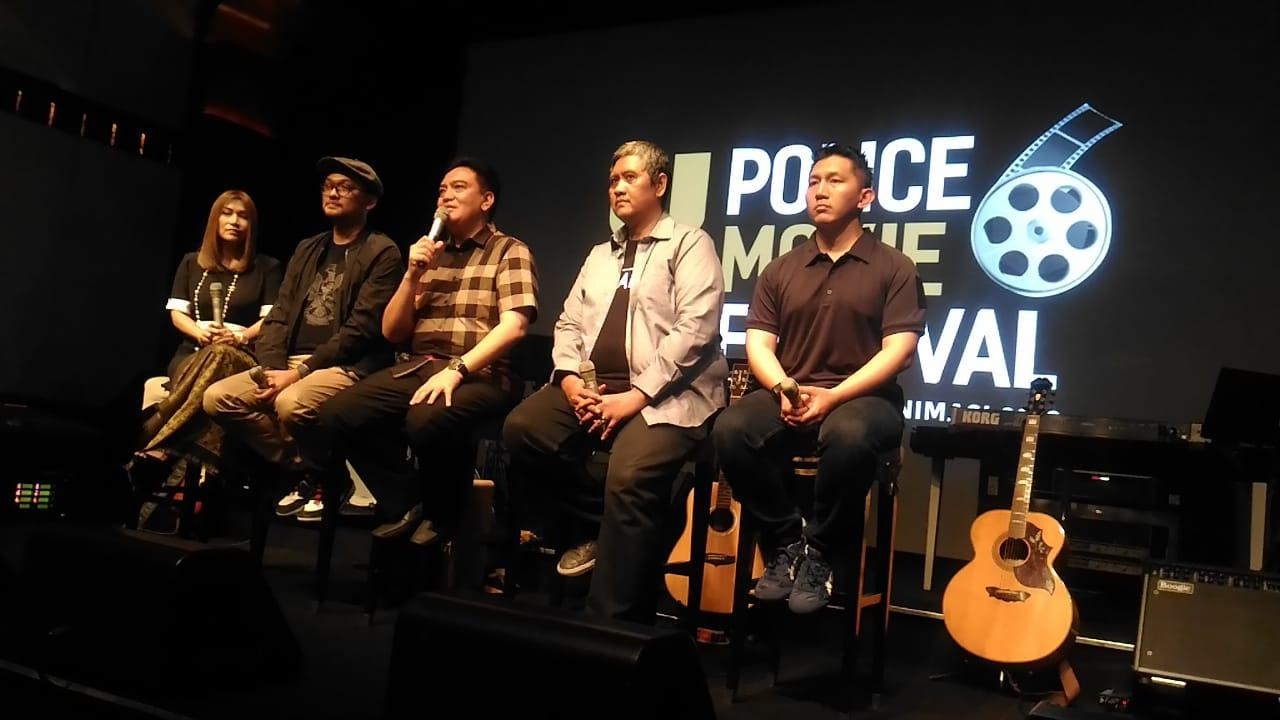 Konferensi pers Police Film Festival (PMF) 2019.
