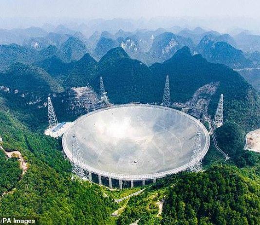 Teleskop Raksasa di Tiongkok Deteksi Lebih dari 100 Sinyal Radio Misterius