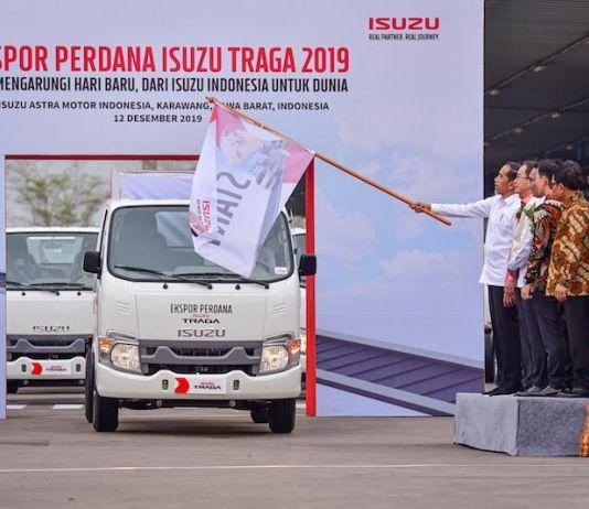 Lepas Ekspor Isuzu Traga, Presiden Jokowi Tantang Industri Otomotif Ekspor 1 Juta Mobil