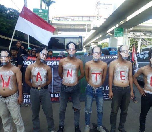 Unjuk Rasa di Kejagung, Massa: Wanted Novel Baswedan!