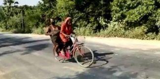 Demi Pulang Kampung, Remaja Putri  Boncengi Ayahnya Mengayuh Sepeda  Sepanjang 1.200 KM