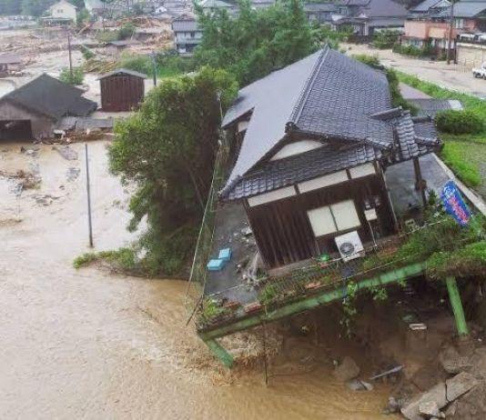 Pulau Kyushu di Jepang Dilanda Banjir dan Longsor, 20 Orang Tewas