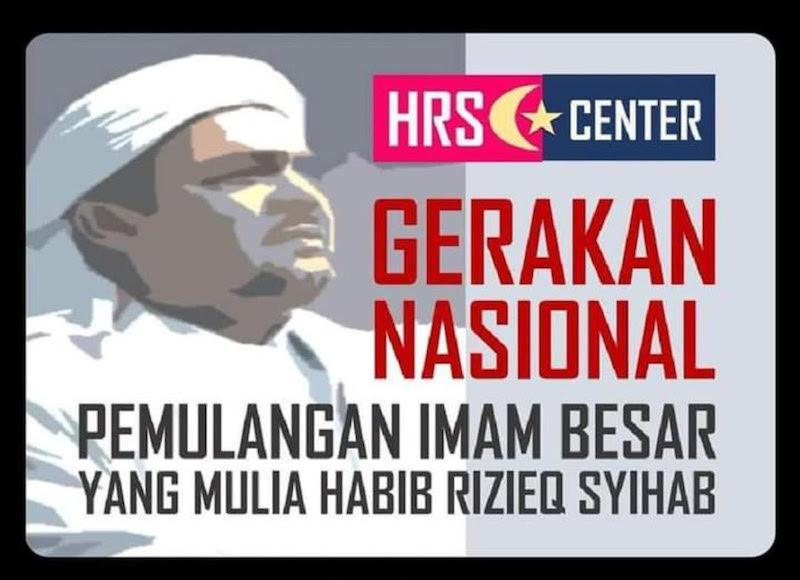 Ada Poster Gerakan Pulangkan Habib Rizieq Eko Kuntadhi Masa