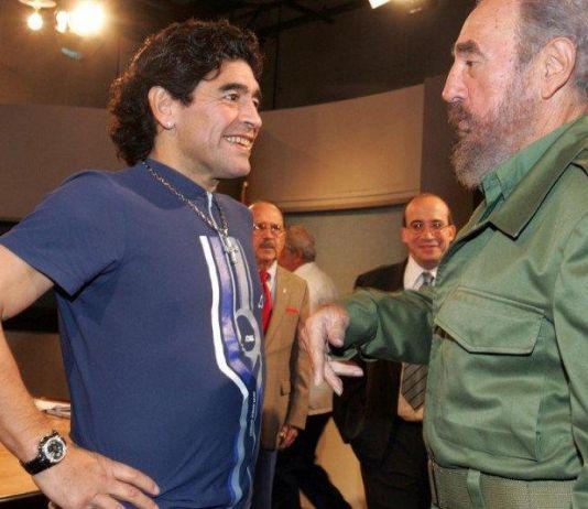 Tak Disangka, Idola Beratnya Maradona adalah Fidel Castro