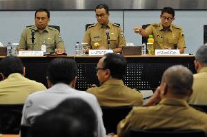 Hari Pertama Kerja Gubernur dan Wakil Gubernur DKI Jakarta