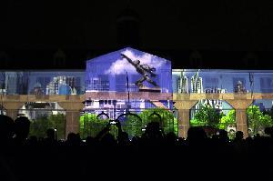 Pertunjukan <i>Video Mapping</i> di Museum Fatahillah