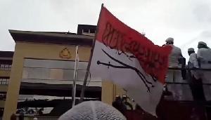 Pengibar Bendera Merah Putih Berkaligrafi Ditangkap Polisi