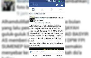 Namanya Dicatut, KH Ahmad Basyir Tak Merasa Restui Pendirian FPI