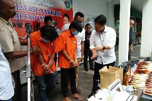 Polda Metro Jaya Kembali Tangkap Dua Pengedar Tembakau 'Gorilla'